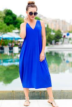 Стильные летние платья *ЕВА*  электрик