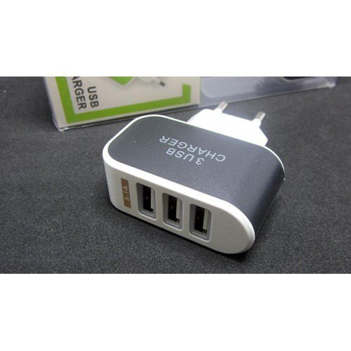 Блок питания зарядное для телефона 5V 0.5A 3*USB
