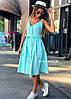 Хлопковое принтованное платье на пуговицах спереди (в расцветках) 19134PL