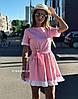 Легкое платье из хлопка с пышной юбкой и коротким рукавом (в расцветках) 19135PL
