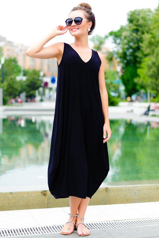 Женские платья больших размеров *ЕВА*  черный