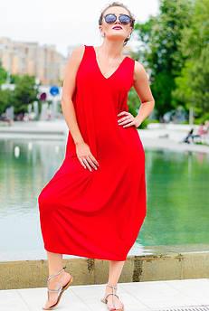 Женское платье - сарафаны *ЕВА* красный