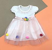 Летнее платье 6-9-12 месяцев