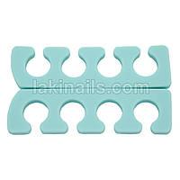 Разделитель (растопырка) для педикюра силиконовый, мята