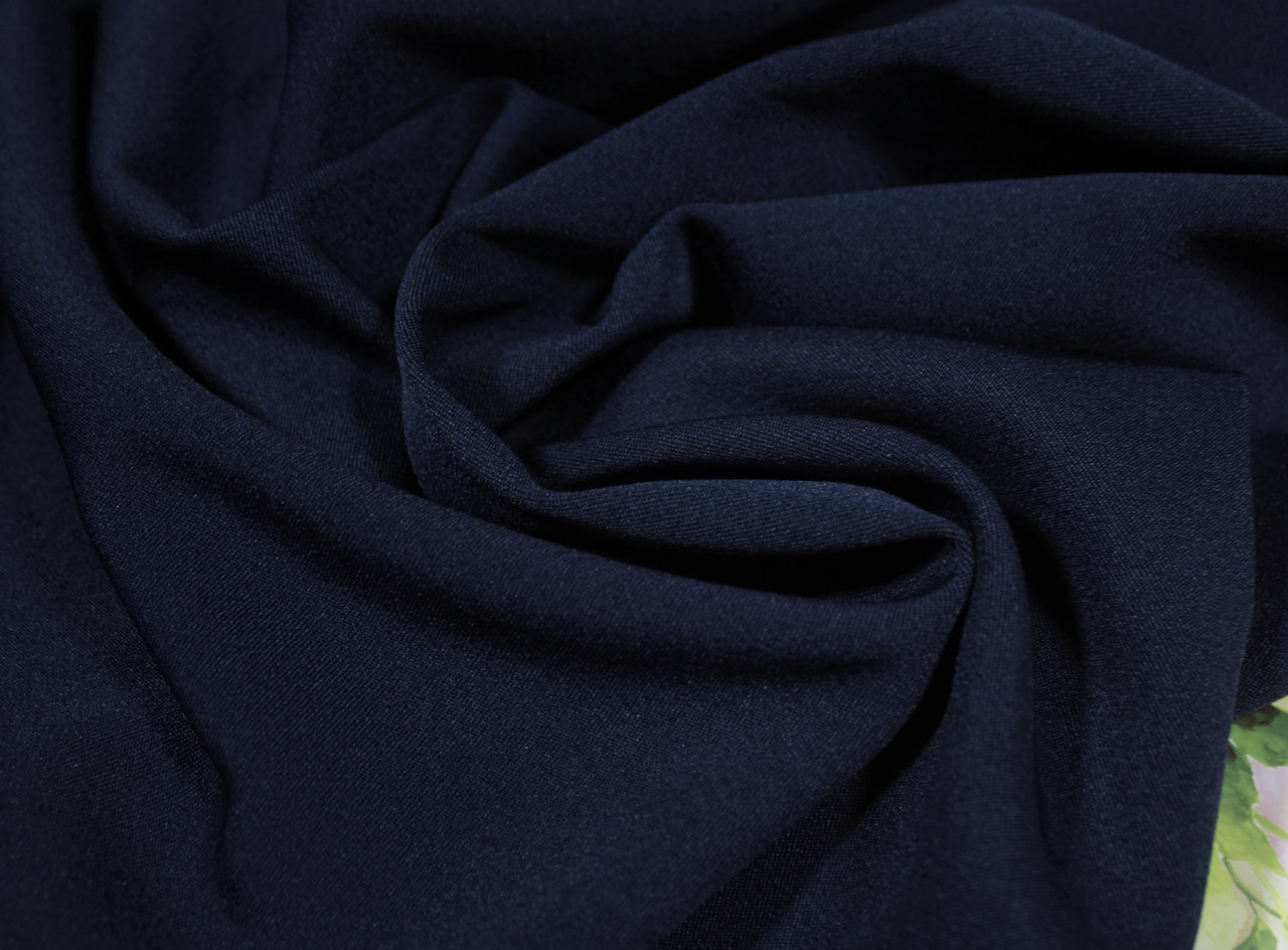 Ткань мадонна темно-синяя