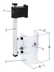 PTR-B Защитный экран для сверлильного станка 2/230 В