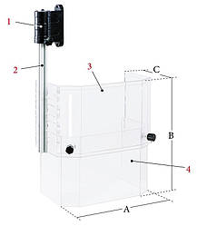 Регулируемый защитный экран PTR-C, гр. 3