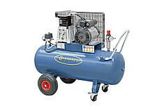 Мобильный масляный компрессор 100 л, 3.0 кВт, 10 атм, 500 л/мин AC25 Bernardo | Модификации 230/400 В