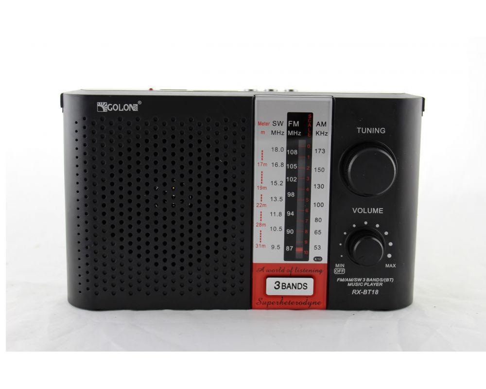 Портативный радиоприемник Golon RX BT18 переносная колонка bluetooth / USB /SD / MP3/ FM