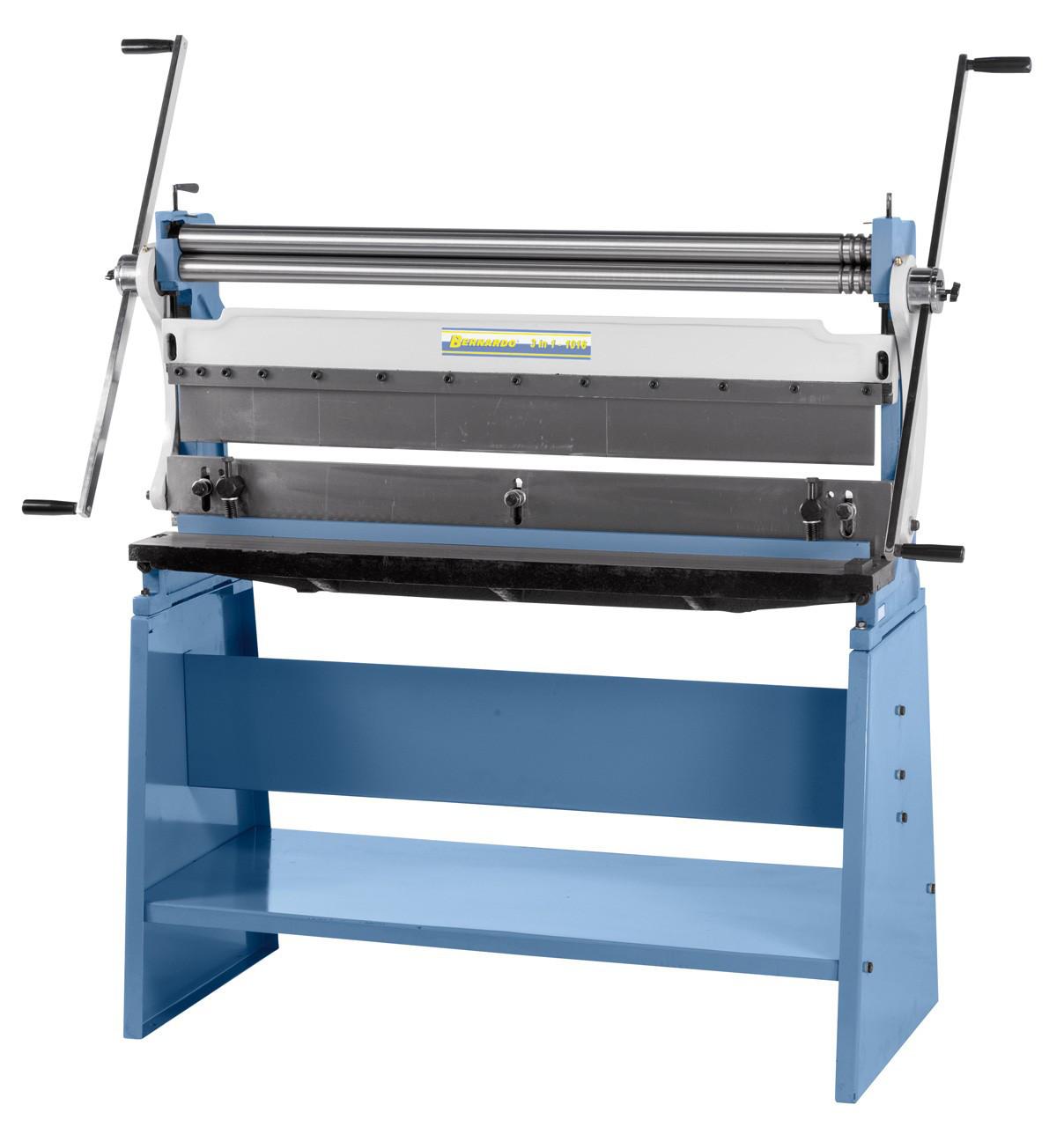 3 в 1 комбинированный сегментный листогибочный станок  Bernardo 1016 мм | Листогиб Вальцы Гильотина