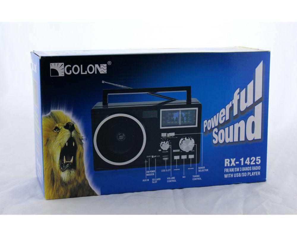 Радиоприемник-плеер MP3/WMA Golon Радио RX 1425 переносной