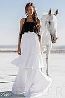 Красивое платье длинное без рукав спина с вырезами черно белое