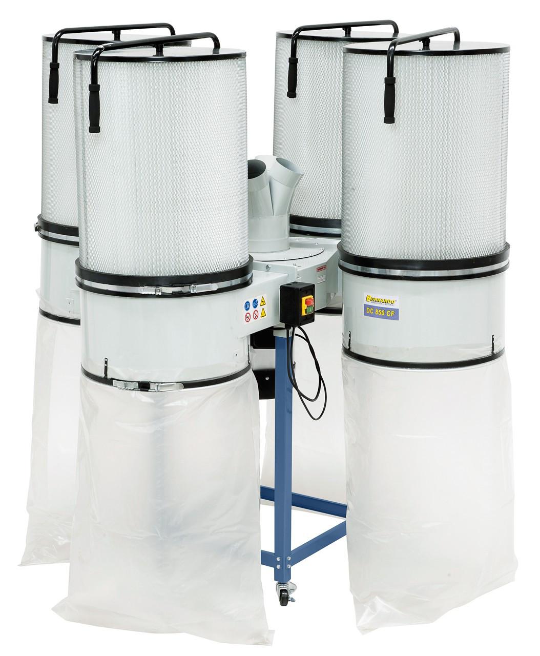 Аспирационная система промышленного типа DC 850 CF Bernardo | Аспирации с картриджными фильтрами