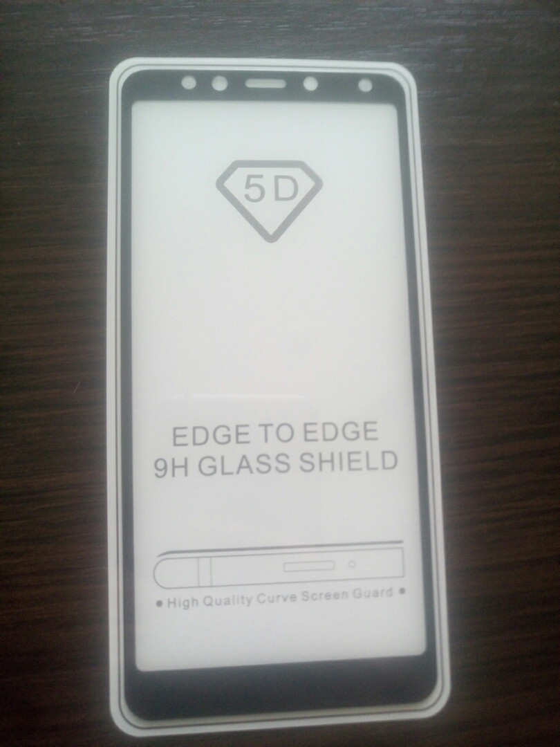 Защитное 5D стекло Xiaomi Redmi 5 Black  full Screen (клей по всей поверхности) 3D