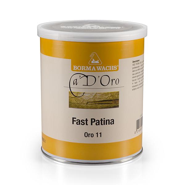 Быстрая патина для золочения, Fast Patina, Borma Wachs, Can d'Oro Line, Теплое золото 11/F, 1 литр