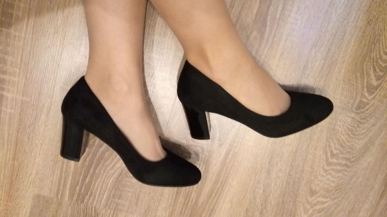 Туфли MeiDeLi 32-2 черная замша, 38