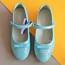 Голубые туфли на девочку серия школьная детская обувь тм Тom.m р.35, фото 2