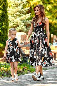 Family look Парные платья Алиса мама дочка
