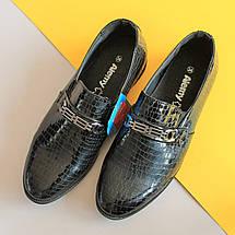 Туфли лаковые подростковые на мальчика р. 35, фото 2