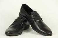 Туфли мужские кожаные чёрные классические, фото 1
