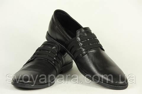 Туфли мужские кожаные чёрные классические