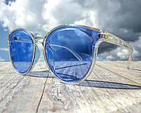 Солнцезащитные очки женские фирменные Cordeo голубые имиджевые в стиле Ray Ban