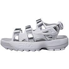 Сандали женские Fila Sandals Фила (белые) +вставки  Top replic