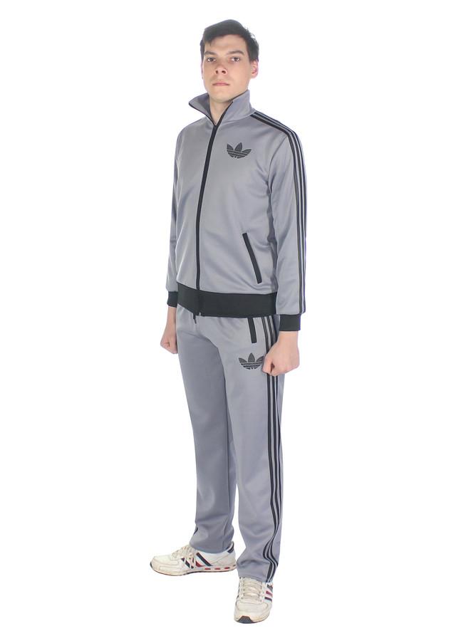 серый спортивный костюм на заказ Три полоски - фото teens.ua