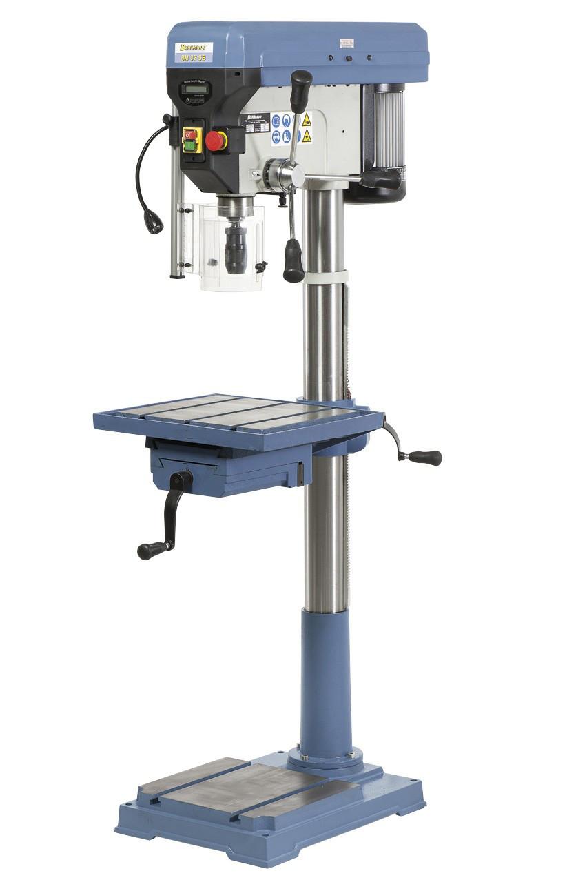 BM 32SB Профессиональный сверлильный станок на колонне 1,6 кВт Bernardo   реверс, лазер, индикация