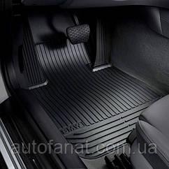 Коврики оригинальные для BMW 5 (F10, F11)  резиновые черные (51472153725)