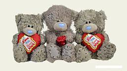 Мишка 13 см с сердечком или розочкой