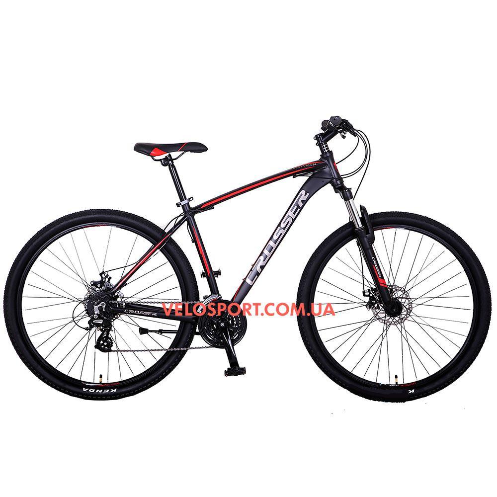 Горный велосипед Crosser Inspiron 26 дюймов черно-красный