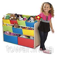 Органайзер для дитячих іграшок з різнокольоровими ящиками