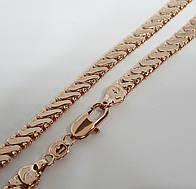 Цепочка плетение Серпантин H-6 мм длина 50 см под советское золото