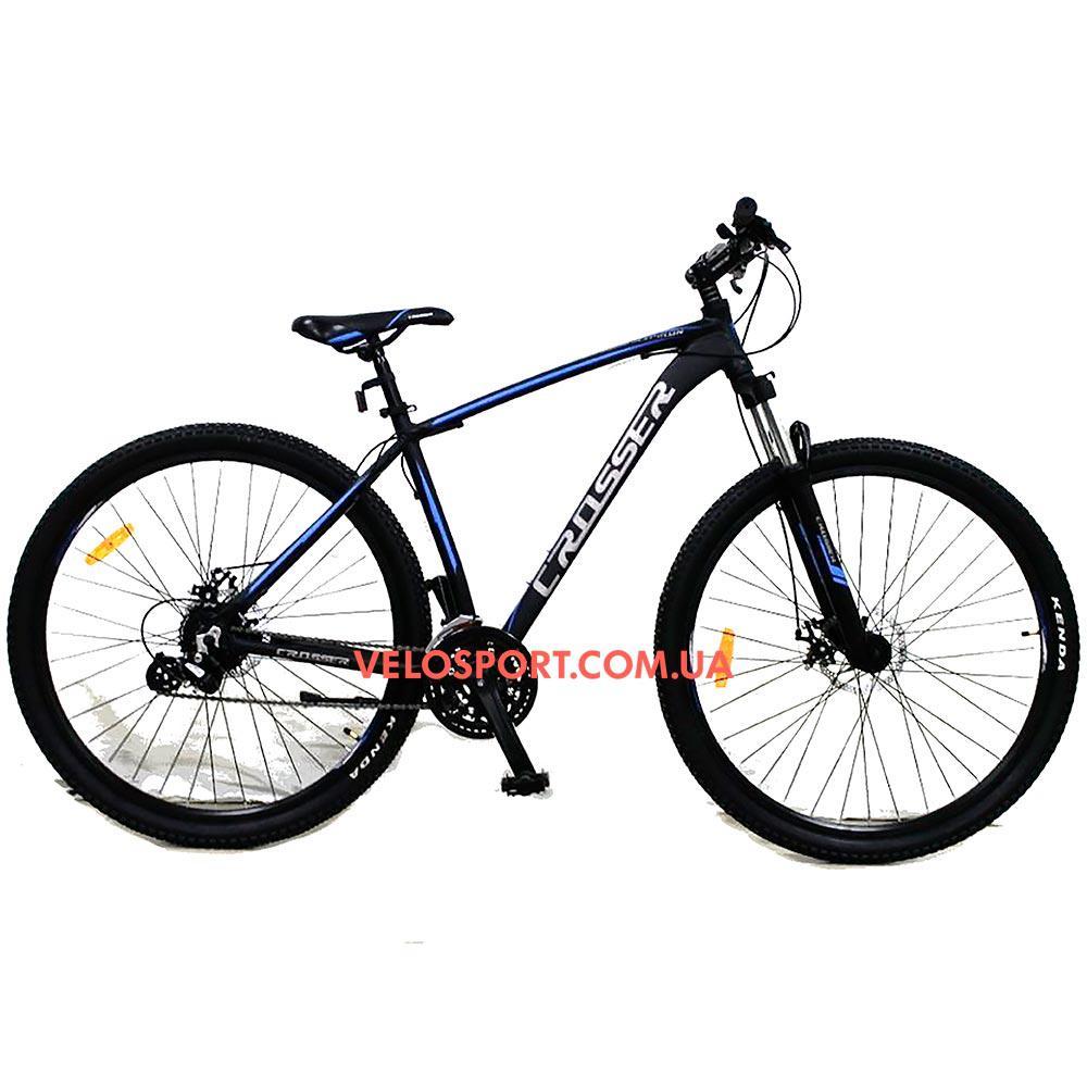"""Горный велосипед Crosser Inspiron 29 дюймов 21"""" черно-синий"""