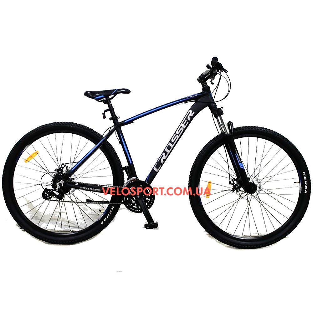 """Горный велосипед Crosser Inspiron 29 дюймов 19"""" черно-синий"""