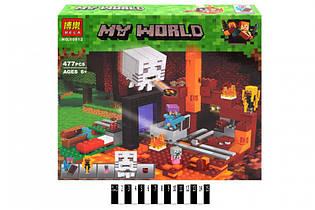 """Конструктор Minecraft  """"Портал в Нижний мир"""" Bela 10812 (аналог Lego Minecraft 21143) Майнкрафт 477 дет"""
