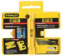 Уровень магнитный для установки столбов Stanley