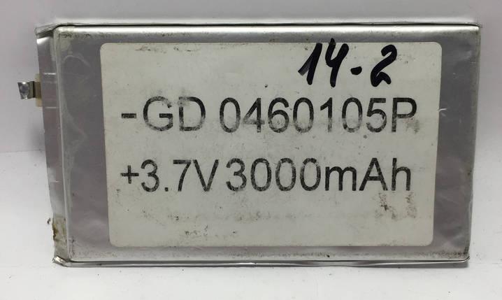 Аккумулятор -GD 0460105P 3000mAh Li-ion + 3.7V, фото 2