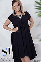 Свободное платье Каскад Батал до 54р 16579-1, фото 1