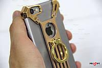 6 6s Nilkin Barde Чехол-Накладка Металлический Бампер metal case золотистый