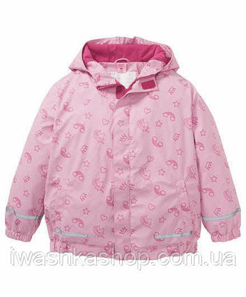 Розовая прорезиненная куртка - дождевик для девочки 1 - 1,5 года X-Mail, р. 80-86