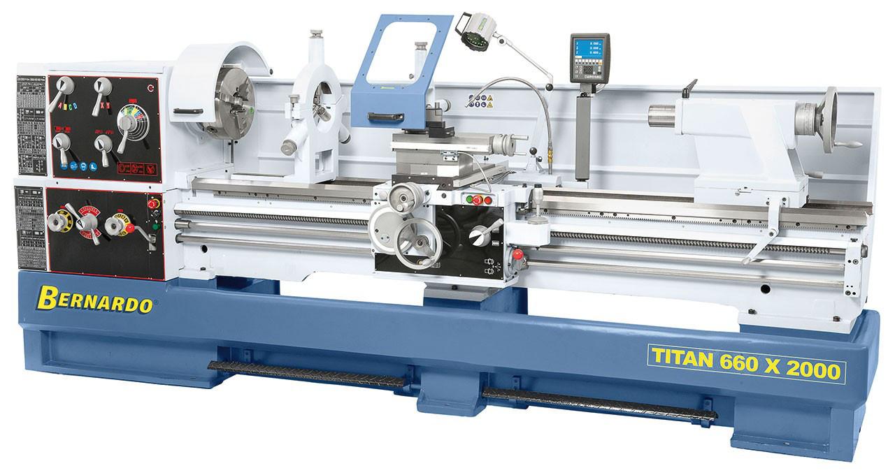 Titan 660 x 3000 ТОКАРНЫЙ ВИНТОРЕЗНЫЙ СТАНОК ПО МЕТАЛЛУ Bernardo | Промышленный токарный станок