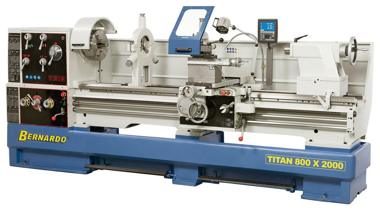 Titan 800 x 3000 ТОКАРНЫЙ ВИНТОРЕЗНЫЙ СТАНОК ПО МЕТАЛЛУ Bernardo   Промышленный токарный станок