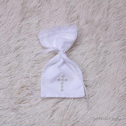 Мешочек для первых волос Жемчуг, белый