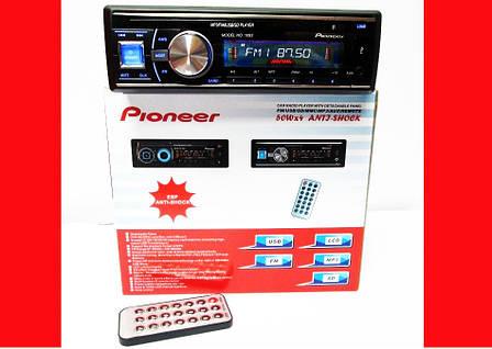 Автомагнитола Pioneer 1093 Съемная панель Usb+Sd+Fm+Aux+ пульт, фото 2