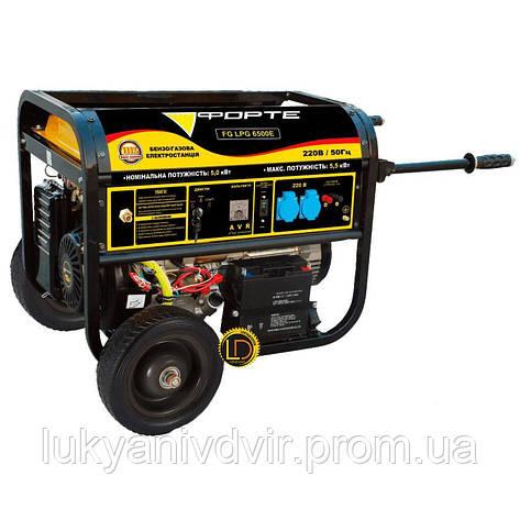 Генератор бензиновый Forte 6500E, фото 2