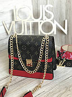 Сумка женская Louis Vuitton LV (реплика люкс) mini red