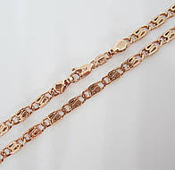Цепочка плетение Улитка H-4 мм длина 60 см под советское золото