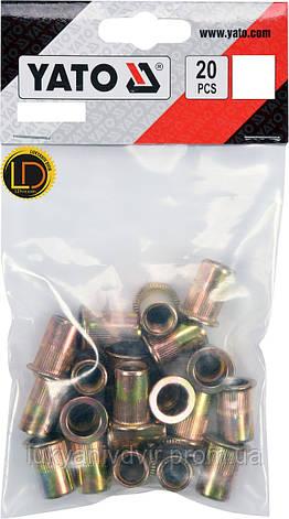 Заклепки резьбовые стальные Yato М8, 20шт, фото 2